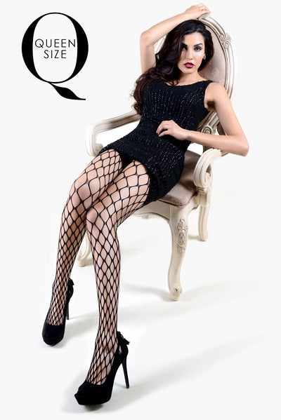 Yelete Extra Large Gauge Fishnet Pantyhose Queen Size (PC) #168YD083Q