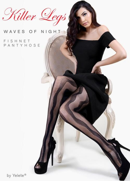 Yelete Lady's Waves Of Night Fishnets #168YD084 (PC)