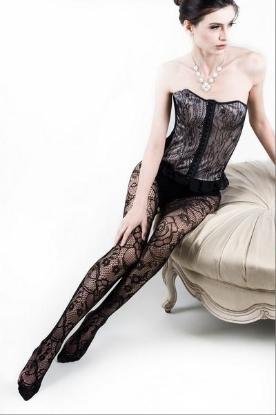 Yelete  Lady's Floral Story Fishnet Pantyhose #168YD102 (PC)