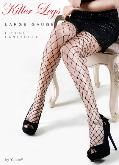 Yelete Large Gauge Fishnet Pantyhose Queen Size #168YD1500Q (PC)