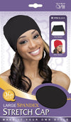 #172 Large Spandex Stretch Cap / Black (Dz)