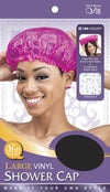 #180 Large Vinyl Shower Cap / Assort (Dz)