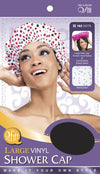 #182 Large Vinyl Shower Cap / Dots (Dz)