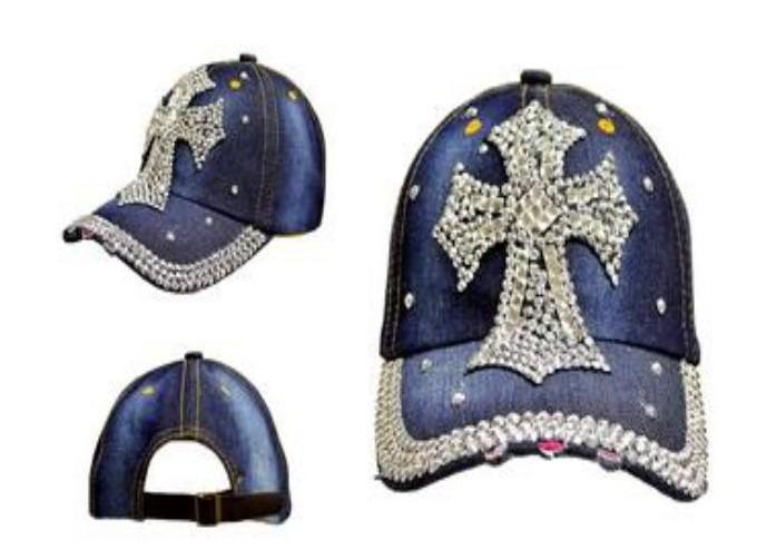 cross-wholesale-denim-rhinestone-hats