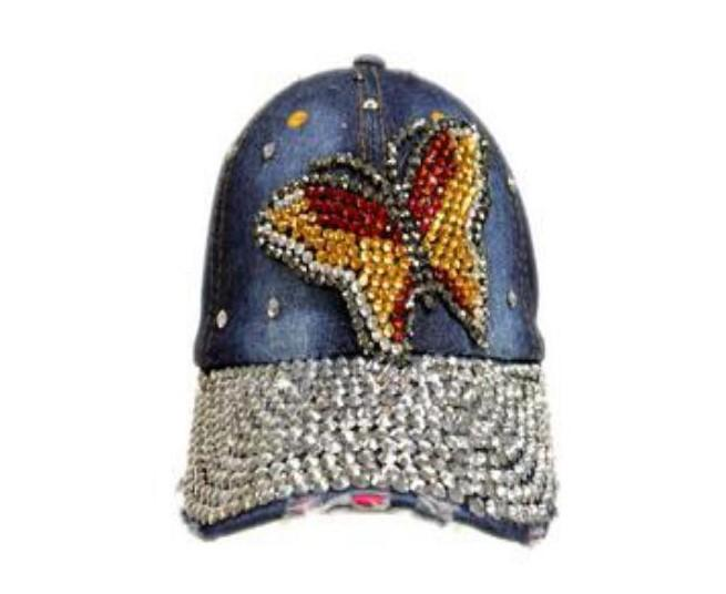 butterfly-wholesale-denim-rhinestone-hats