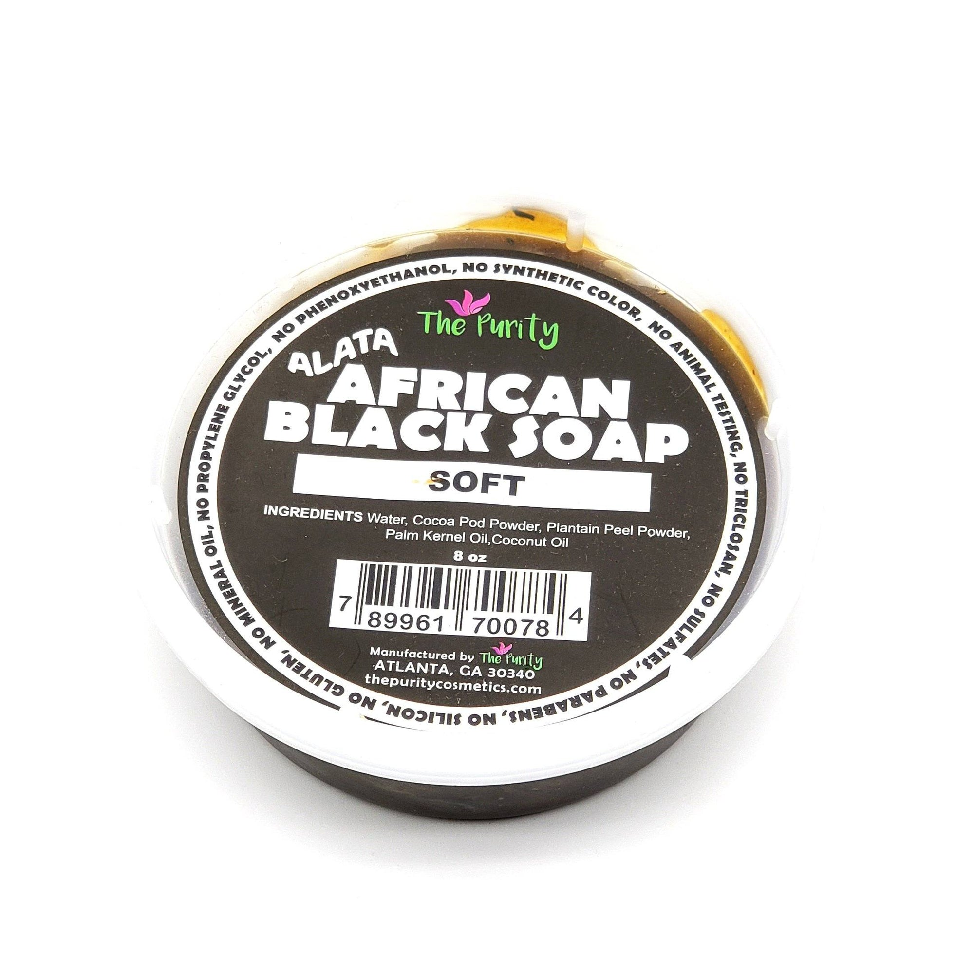 The Purity African Black Soap Soft