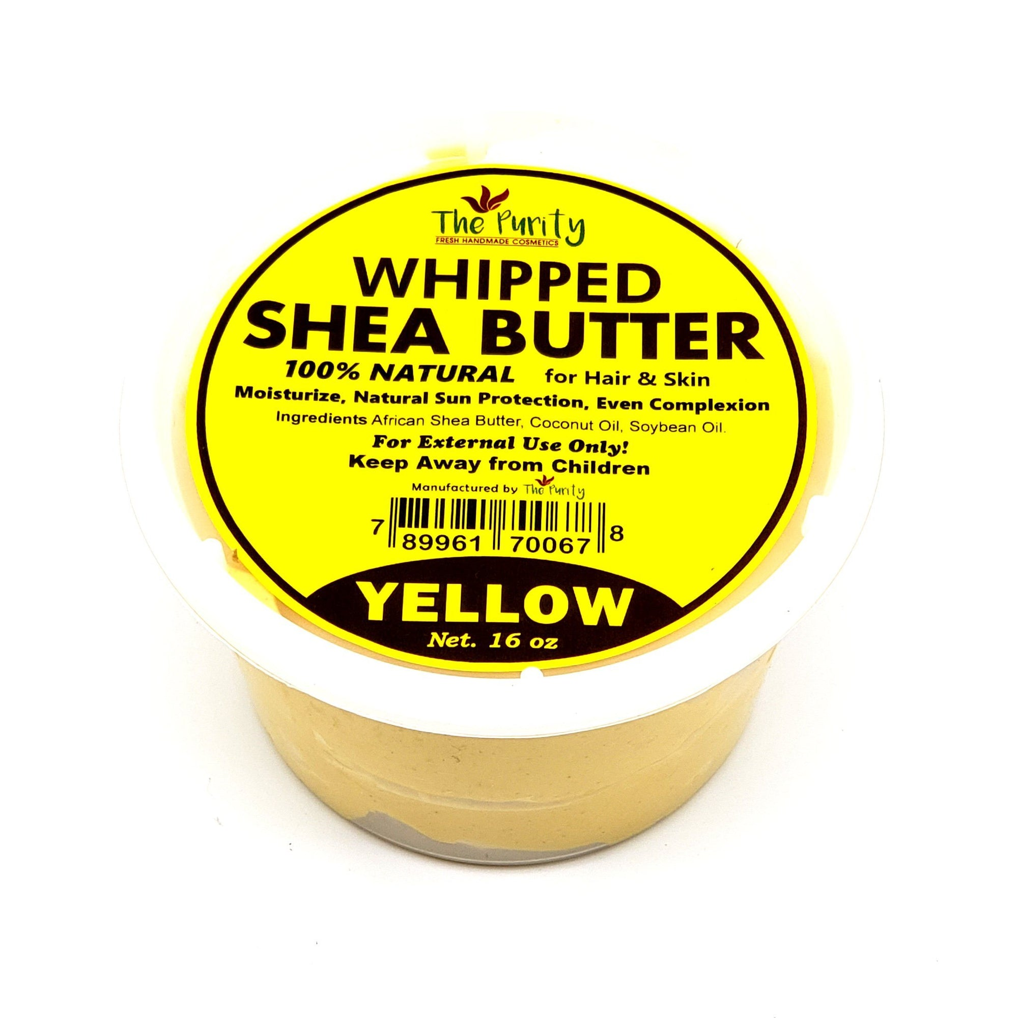 The Purity Whipped Yellow Shea Butter 16oz