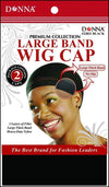 #22031 2Pc Large Band Wig Cap / Black (Dz)