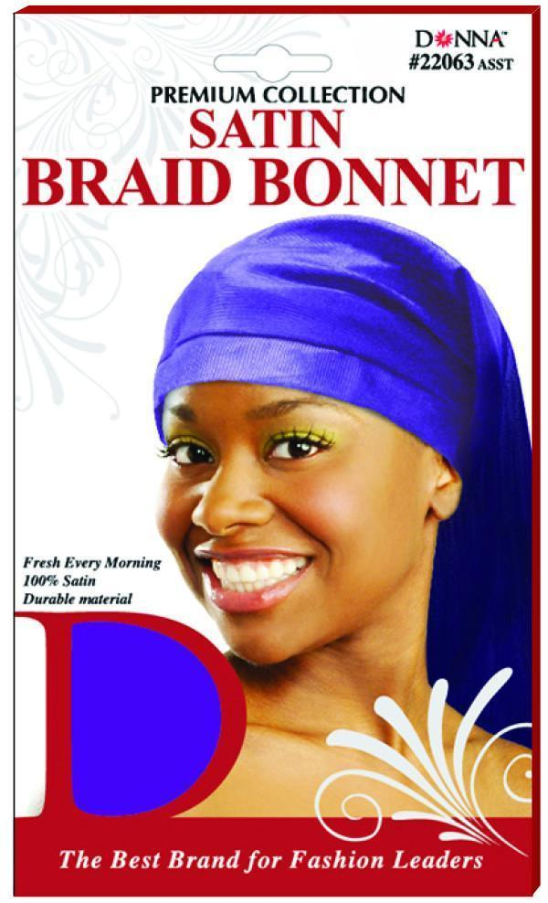 #22063 Satin Braid Bonnet / Assort (Dz)