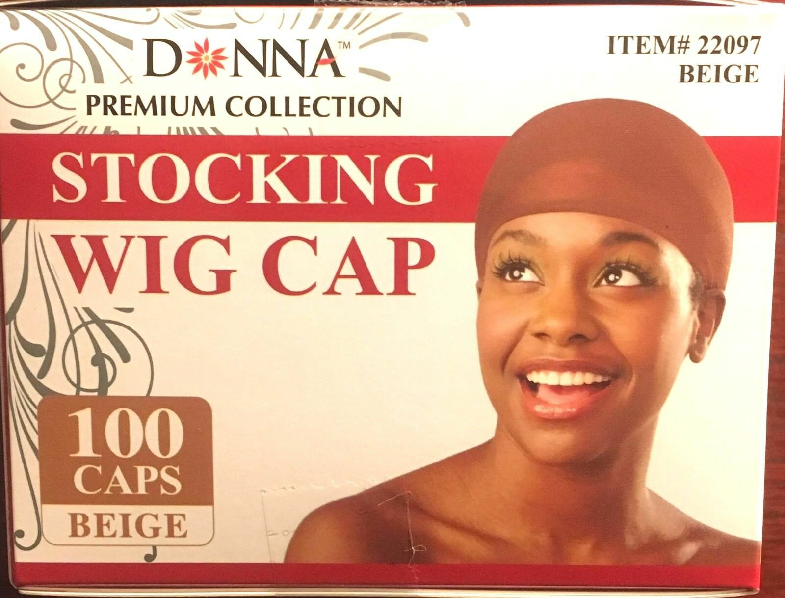 Donna Stocking Wig Cap 100 Pieces Beige #22097 (BOX)