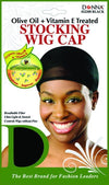#22200 Treated Stocking Wig Cap / Black (Dz)