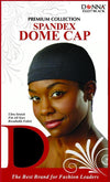 #22217 / 4688 Spandex Dome Cap / Black (Dz)