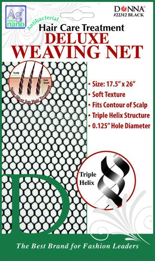 #22312 Antibacterial Deluxe Weaving Net / Black (Dz)