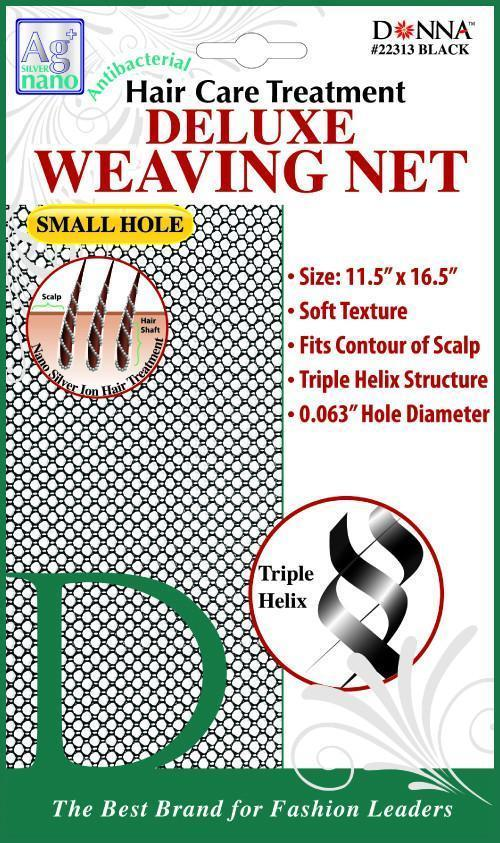 #22313 Antibacterial Small Hole Deluxe Weaving Net / Black (Dz)