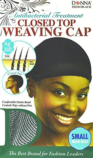 Donna Nano Closed Top Weaving Cap Small Hole #22314 (12PC)