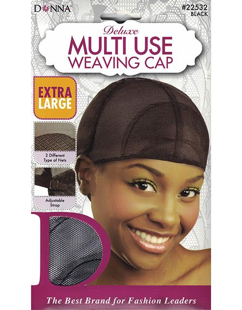 Donna Deluxe Multi-Use Weaving Cap Extra Large Black #22532 (12PC)