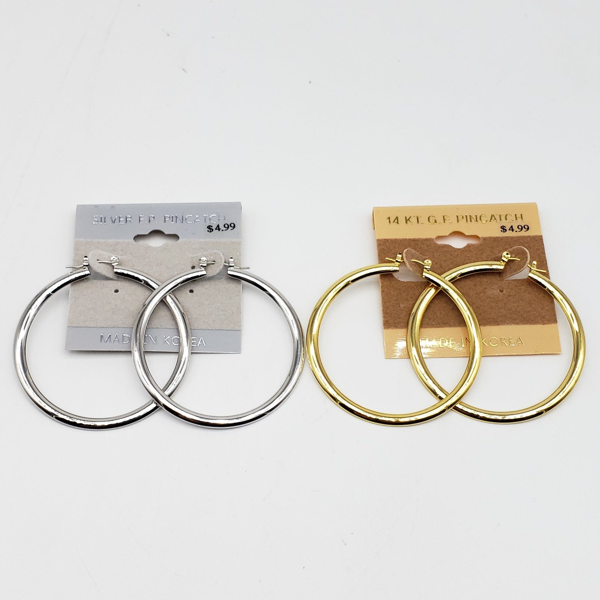 Gold/Silver Hoop Earrings #2350 (PC)
