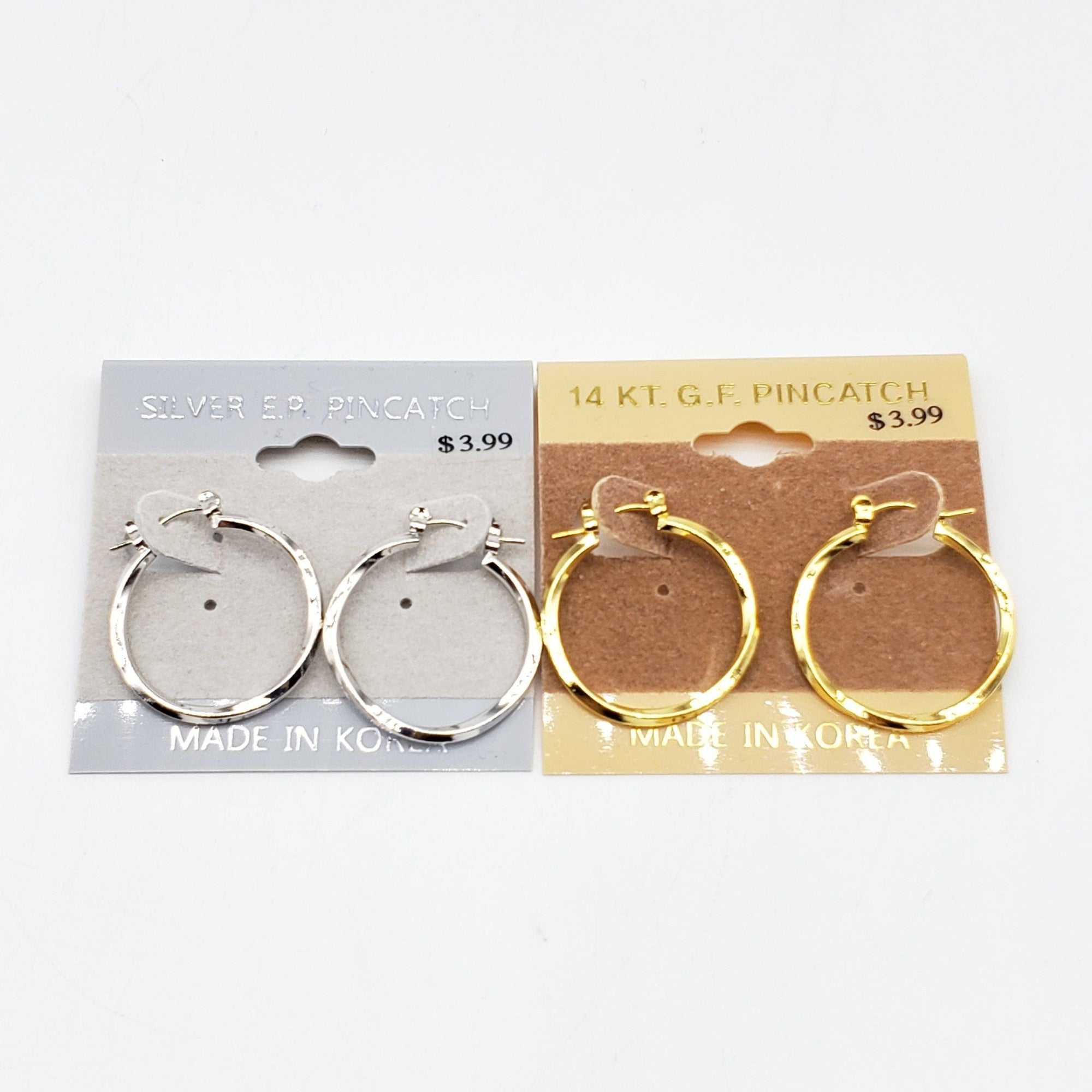 Gold/Silver Spiral Hoop Earrings #2625 (PC)