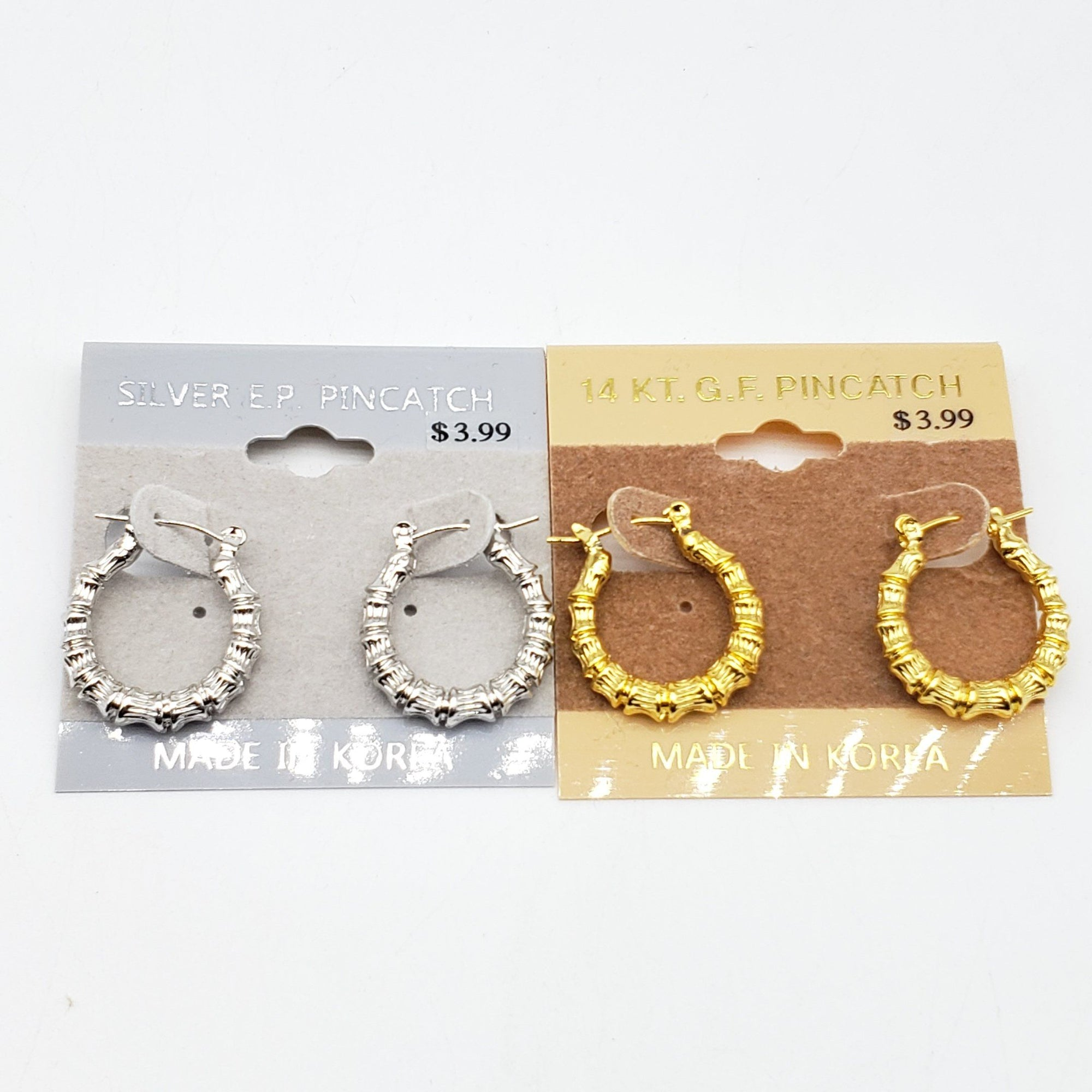 Gold/Silver Braided Hoop Earrings #3020 (PC)