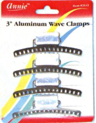 #3141 Annie Aluminum Wave Clamps 4Pc (12Pk)