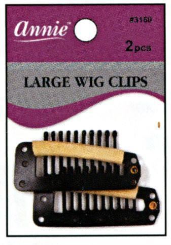 #3160 Annie Wig Clips Large 2Pc (12Pk)