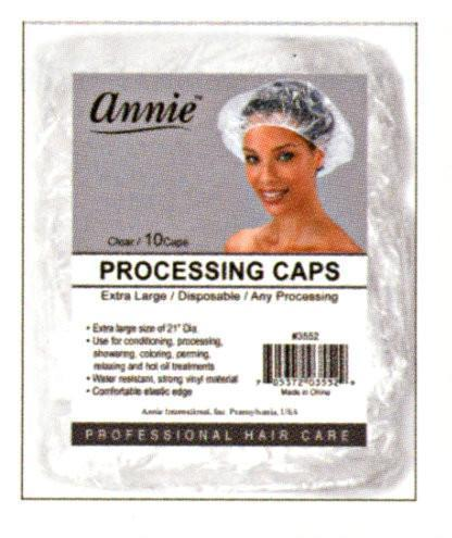 #3552 Annie Processing Caps Clear Large 10Pc (12Pk)