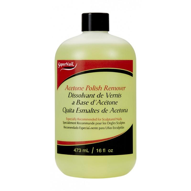 SuperNail Acetone Polish Remover 4-16oz (PC)