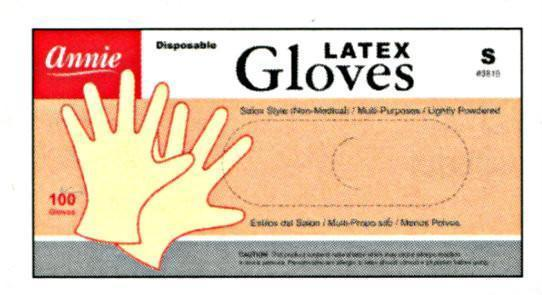 Annie Lightly Powdered Latex Gloves 100Pc (S-Xl)