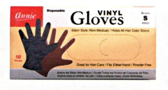 Annie Powder Free Brown Vinyl Gloves 50Pc (S-Xl)