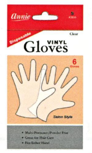 Annie Clear Vinyl Gloves 6Pc (S-XL) (12Pk)