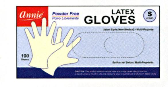 Annie Powder Free Latex Gloves 100Pc (S-Xl)