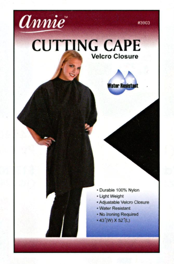 #3903 Annie Black Cutting Cape (Pc)