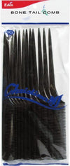 #39102 Eden Black Bone Tail Comb (12Pc)
