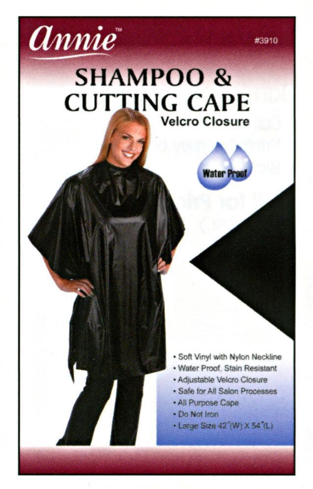 #3910 Annie Shampoo And Cutting Cape Assort (Pc)