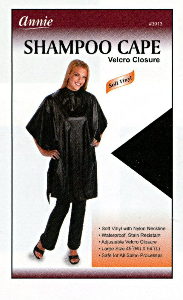 #3913 Annie Black Shampoo Cape (Pc)