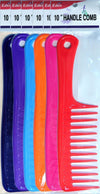 "#39813 Eden Assort Jumbo 10"" Handle Comb (12Pk)"