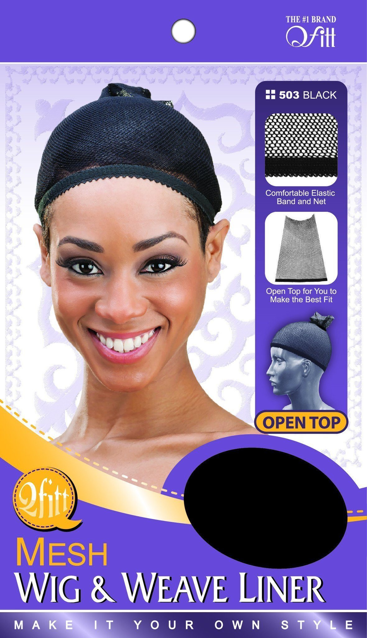 #503 Mesh Wig And Weave Liner / Black (Dz)