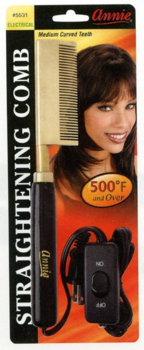 #5531 Annie Electrical Straightening Comb Curved (Pc)