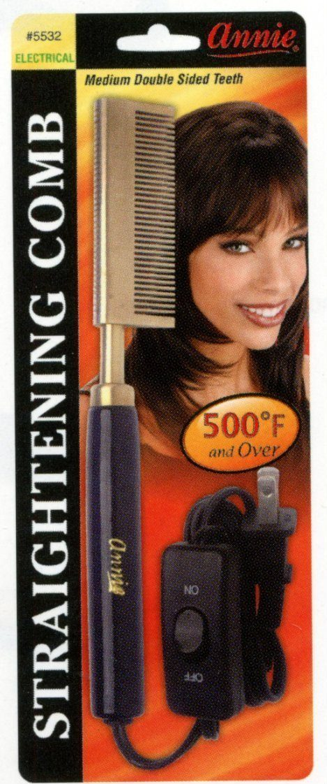#5532 Annie Electrical Straightening Comb Double Sided (Pc)
