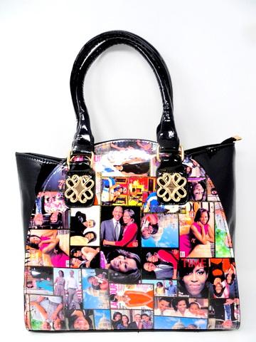 Obama Purse / Black Multicolor #F61250