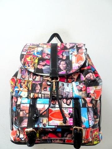 Obama Backpack / Black Multicolor #F61268 (PC)
