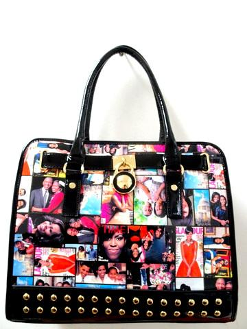 Obama Purse / Black Multicolor #F7165 (PC)