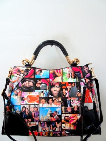 Obama Purse / Black Multicolor #7587 (PC)