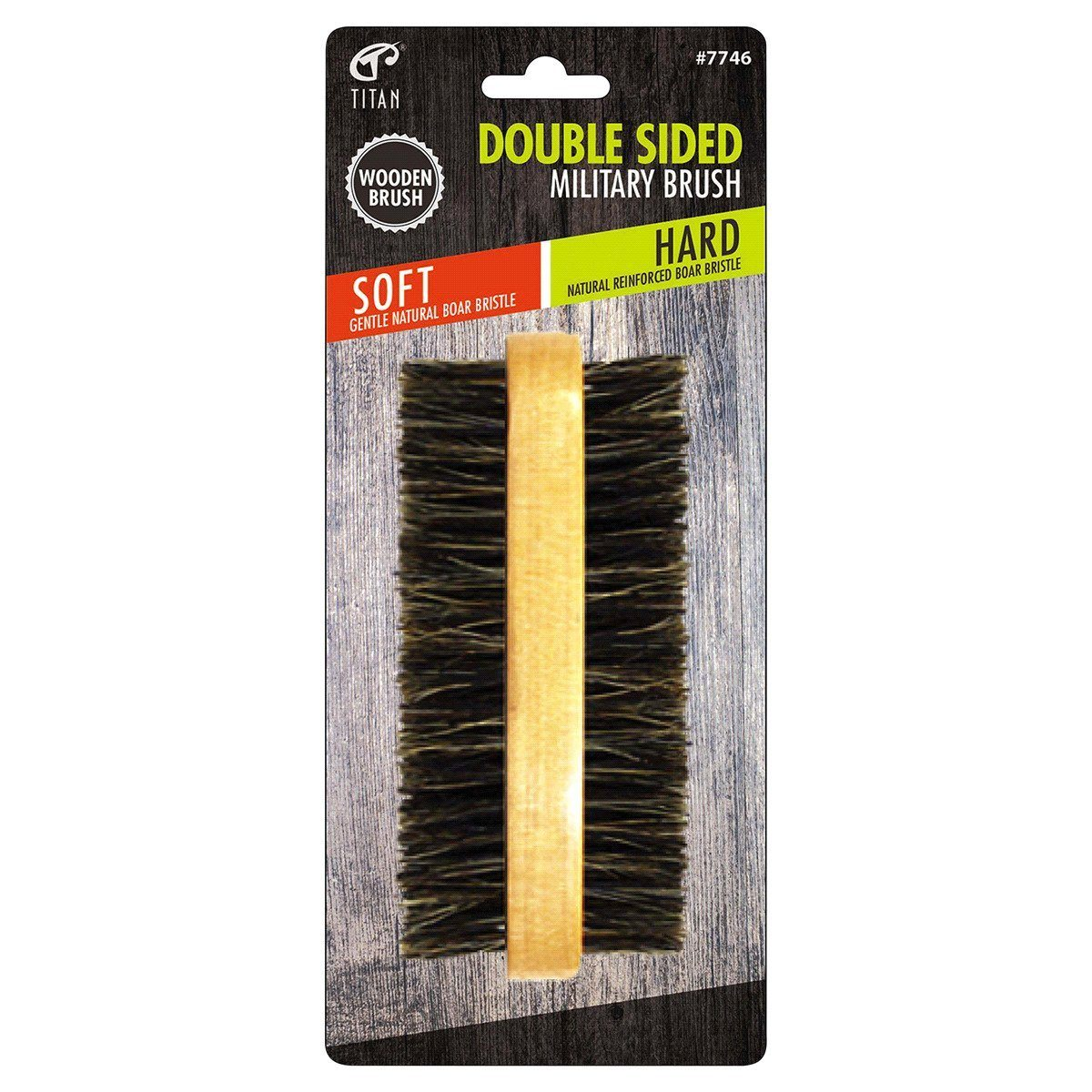 Titan Soft/Hard Double Sided Military Brush #7746 (12PC)