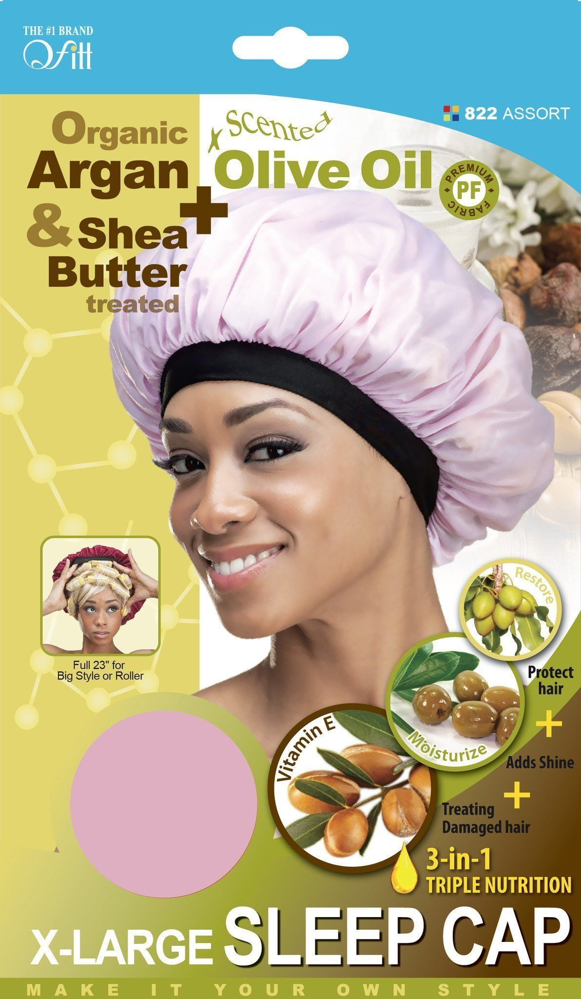 #822 Organic Xl Sleep Cap / Assort (Dz)
