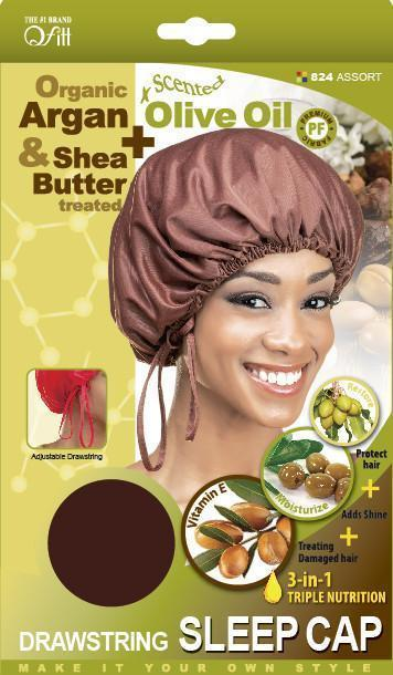#824 Organic Drawstring Sleep Cap / Assort (Dz)