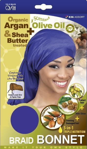 #836 Organic Braid Bonnet / Assort (Dz)