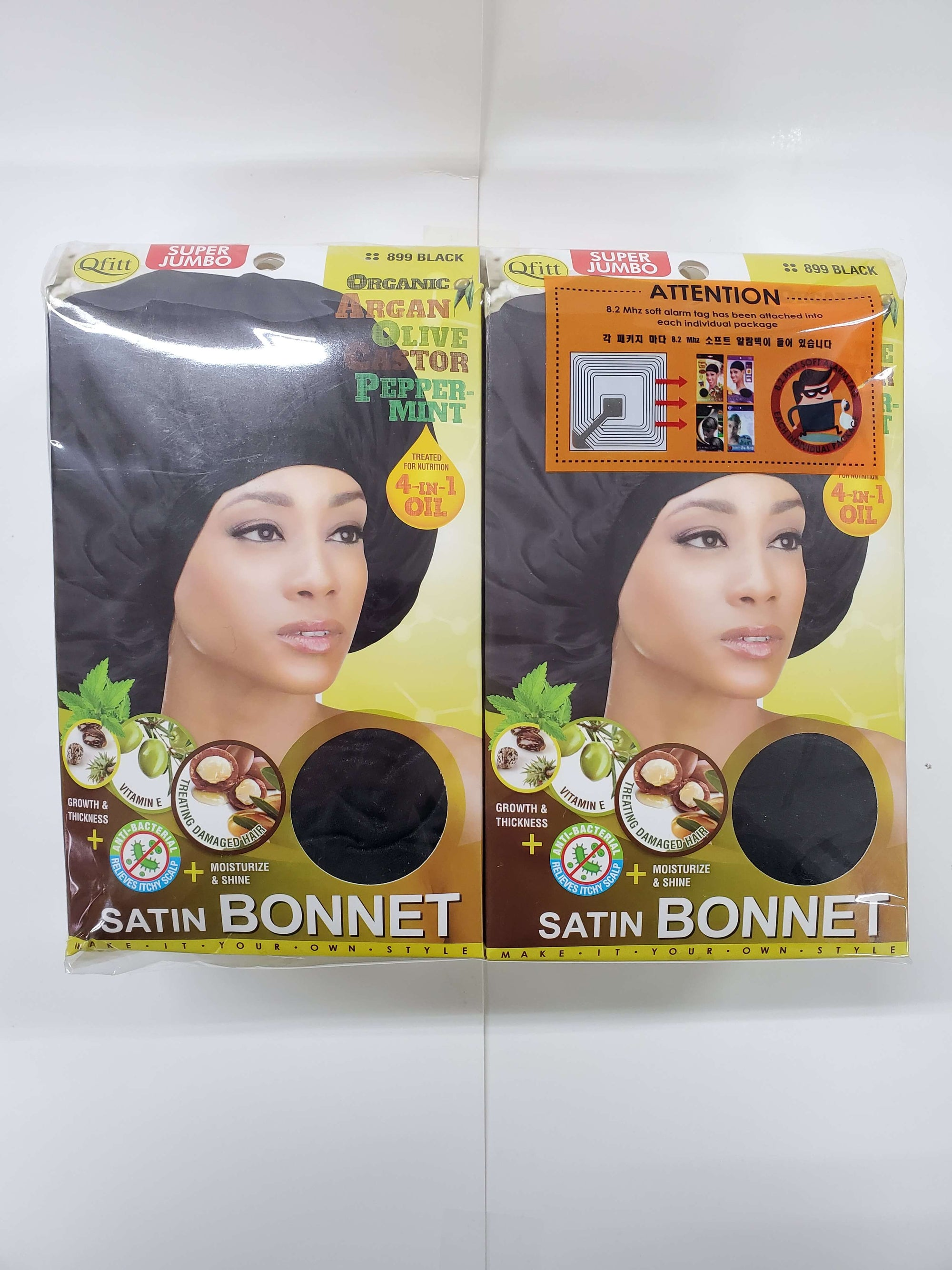 Qfitt Satin Bonnett / Black #899 (12PC)