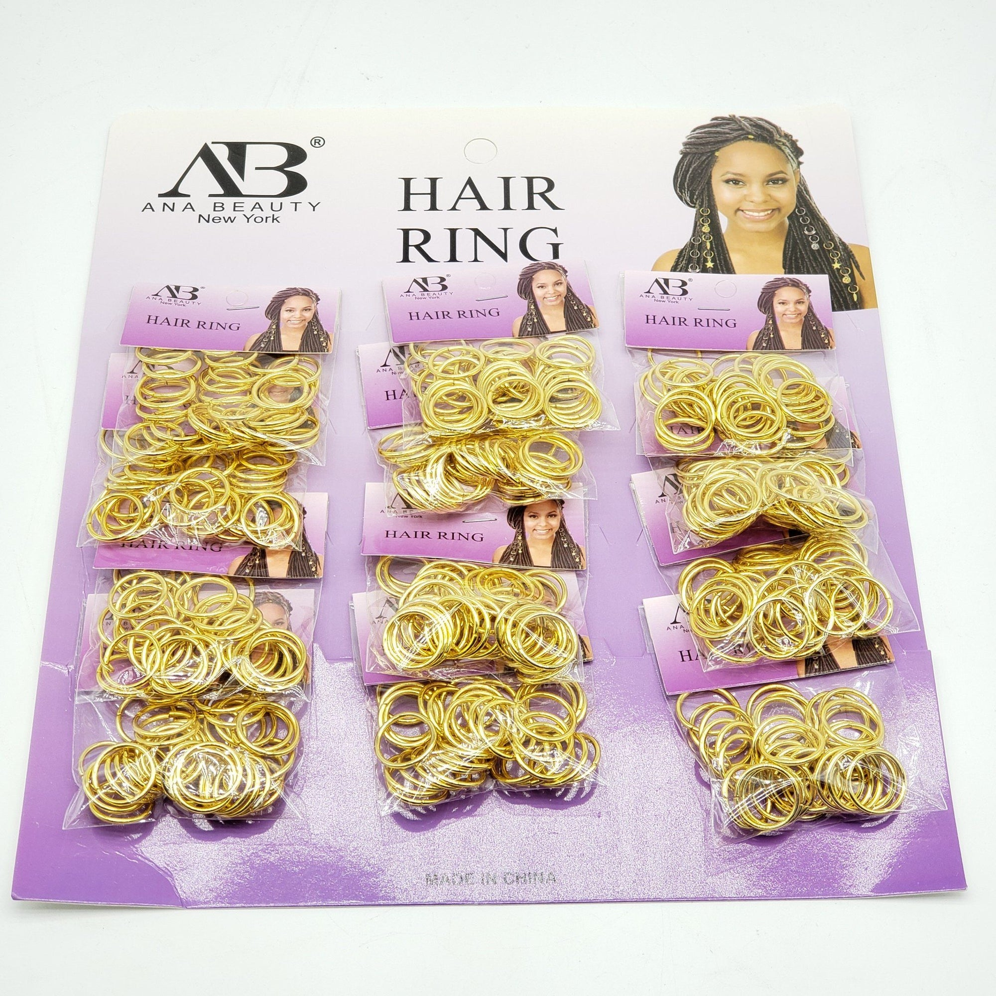 AB Hair Ring #ABD0302G (12PC)