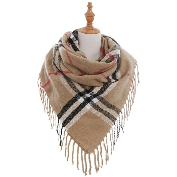A&O International Square Checker Plaid Pattern Scarf #AO5008 (PC)
